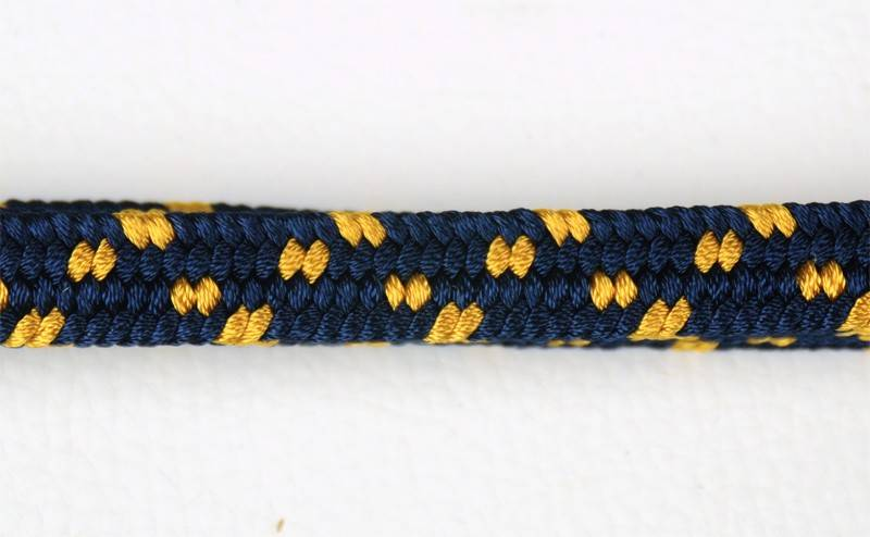 Azul puntos dorados